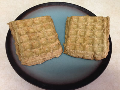 Healthy Vegan Protein Waffles