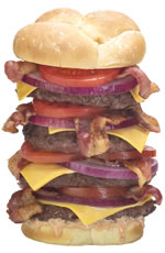 Heart Attack Grill - Quadruple Bypass Burger